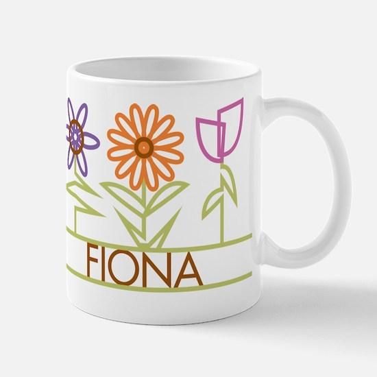 Fiona with cute flowers Mug