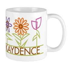 Kaydence with cute flowers Mug