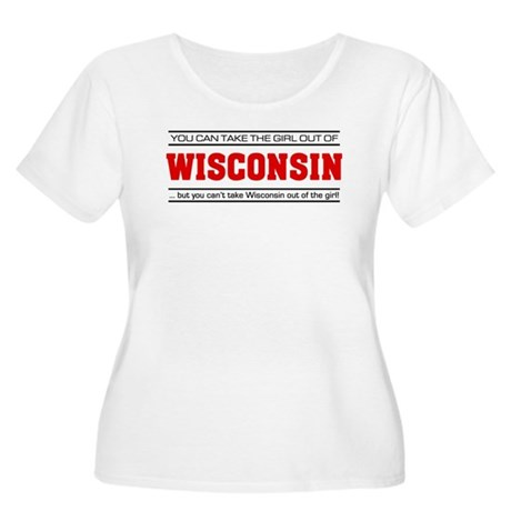 'Girl From Wisconsin' Women's Plus Size Scoop Neck
