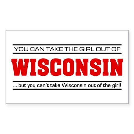 'Girl From Wisconsin' Sticker (Rectangle)