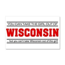 'Girl From Wisconsin' Car Magnet 20 x 12