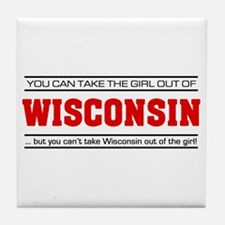 'Girl From Wisconsin' Tile Coaster