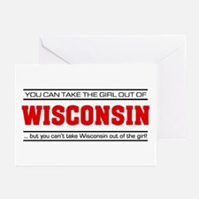 'Girl From Wisconsin' Greeting Cards (Pk of 10)