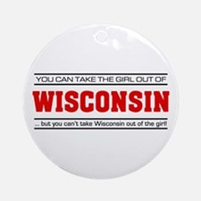 'Girl From Wisconsin' Ornament (Round)