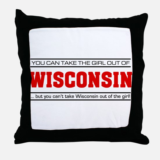 'Girl From Wisconsin' Throw Pillow