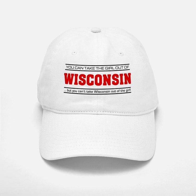 'Girl From Wisconsin' Baseball Baseball Cap