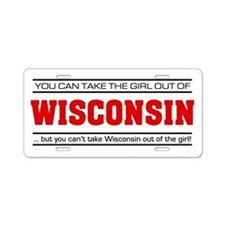 'Girl From Wisconsin' Aluminum License Plate