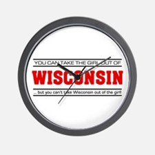 'Girl From Wisconsin' Wall Clock