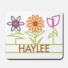 Haylee with cute flowers Mousepad