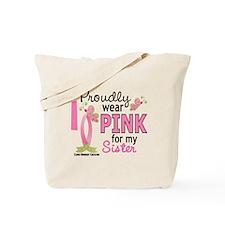 I Wear Pink 27 Breast Cancer Tote Bag