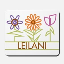 Leilani with cute flowers Mousepad