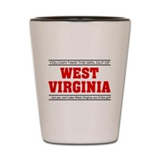 'Girl From West Virginia' Shot Glass