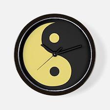 Ying Yang Yellow Wall Clock