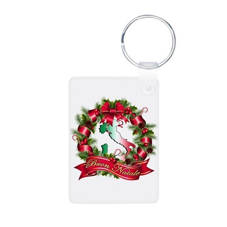 Buon natale Aluminum Photo Keychain