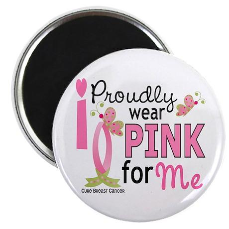 """I Wear Pink 27 Breast Cancer 2.25"""" Magnet (10 pack"""