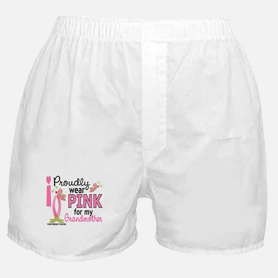 I Wear Pink 27 Breast Cancer Boxer Shorts