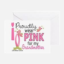 I Wear Pink 27 Breast Cancer Greeting Card
