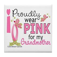 I Wear Pink 27 Breast Cancer Tile Coaster