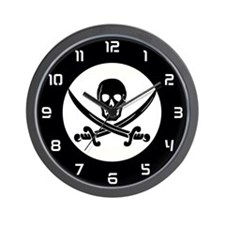 Pirate (black border) Wall Clock