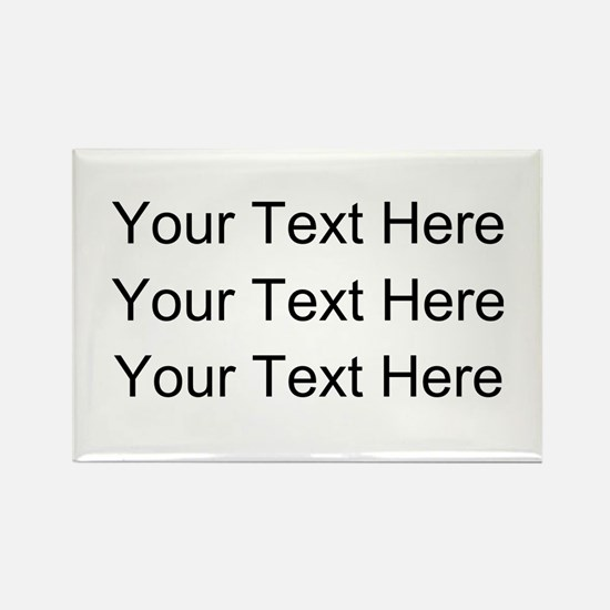 Customizable Personalized (Black Rectangle Magnet