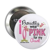 "I Wear Pink 27 Breast Cancer 2.25"" Button"