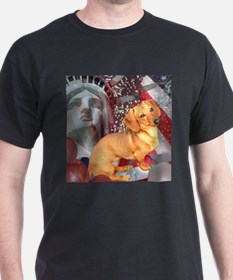 Happy New Year or Forth of July Doxies T-Shirt