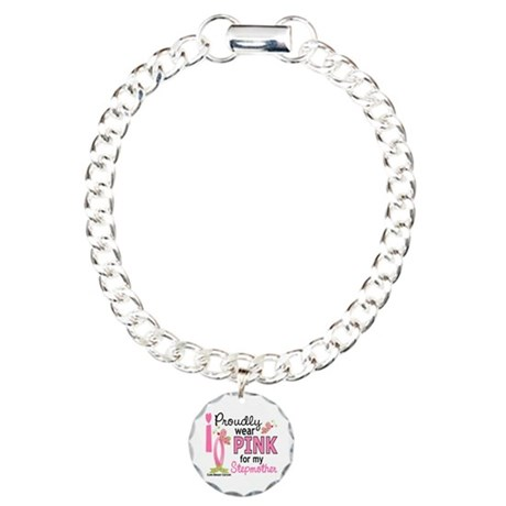 I Wear Pink 27 Breast Cancer Charm Bracelet, One C
