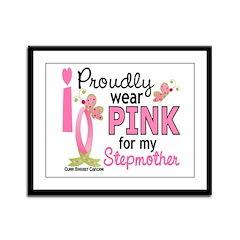 I Wear Pink 27 Breast Cancer Framed Panel Print