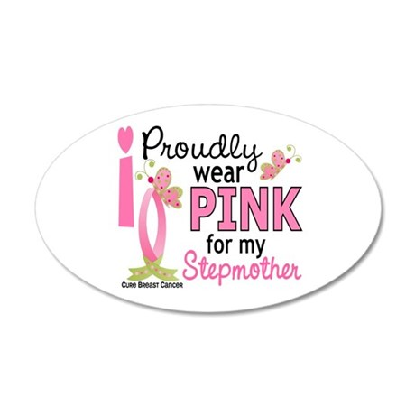 I Wear Pink 27 Breast Cancer 22x14 Oval Wall Peel