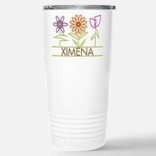 Ximena with cute flowers Travel Mug