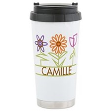 Camille with cute flowers Travel Mug