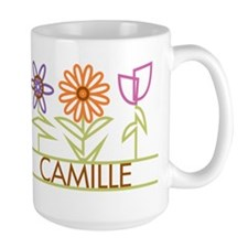 Camille with cute flowers Ceramic Mugs