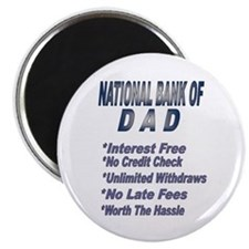 National Bank of Dad Magnet