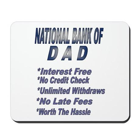 National Bank of Dad Mousepad