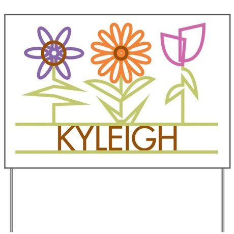 Kyleigh with cute flowers Yard Sign