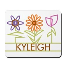 Kyleigh with cute flowers Mousepad