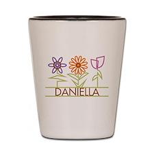 Daniella with cute flowers Shot Glass