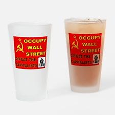 OVERTHROW AMERICA Drinking Glass
