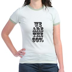 We are the 99% Jr. Ringer T-Shirt