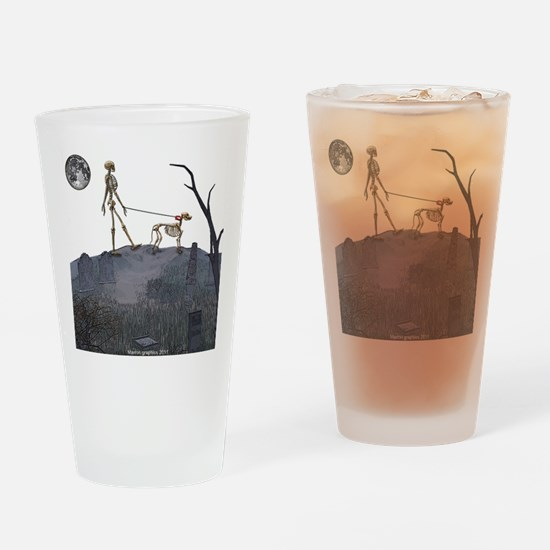 walk in the cemetery Drinking Glass
