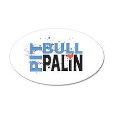 Pit Bull Palin 22x14 Oval Wall Peel