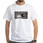 Boris Curls White T-Shirt