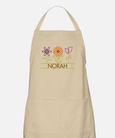 Norah with cute flowers Apron