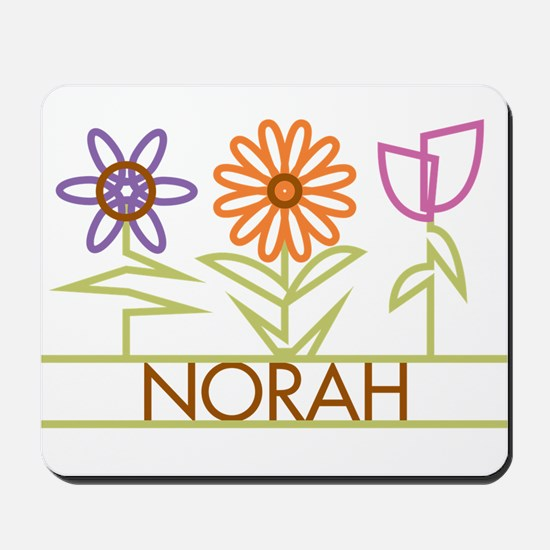 Norah with cute flowers Mousepad