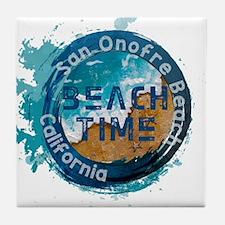 California - San Onofre Beach Tile Coaster