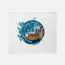 California - San Onofre Beach Throw Blanket