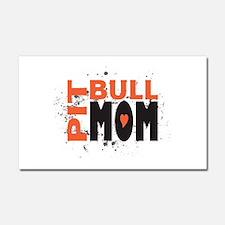 Pit Bull Mom Car Magnet 20 x 12