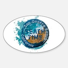 California - San Onofre Beach Decal