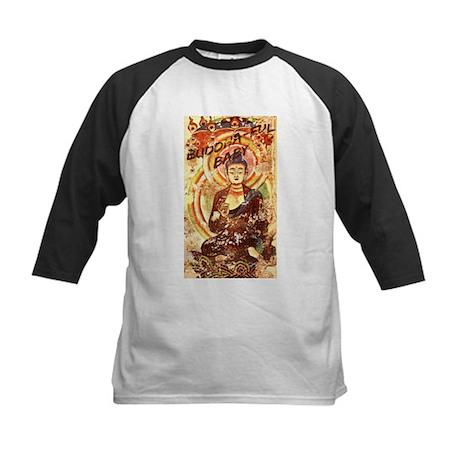 buddha-ful baby Kids Baseball Jersey