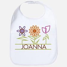 Joanna with cute flowers Bib